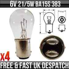 6V 21 / 5 W BA15D STOP & Tail LAMPADINE 383 x 4