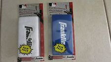 "2 packs Franklin Pro Wristbands 6"" WHITE & BLUE Professional (Pair pack) N 3125"