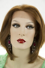 Auburn Red Medium Lace Front Hand Tied Straight Wigs