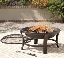 OUTDOOR WOOD Burner Fire Pit, Jardin Patio Deck poêle cheminée acier chauffage