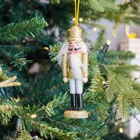 Gisela Graham Nutcracker Gold - Christmas Tree Decoration Hanging - Xmas