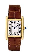 Armbanduhren mit Armband aus echtem Leder und Massivgold-Erwachsene