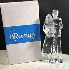 Roman Cut Glass Crystal Figurine statue sculpture nib box family baby parents us