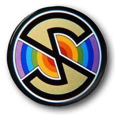 "Spectrum Logo  25mm 1"" Button Badge - Kids Retro TV Captain Scarlet 60's 70's"