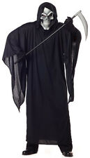 Grim Reaper Skull Mask Demon Adult Plus Size Costume