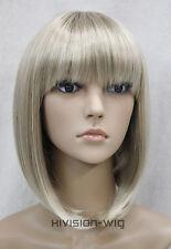 8 Colors BOB Short Straight bangs Women Ladies Daily Hair wig Hivision #E-9606