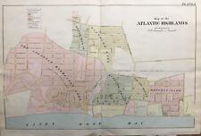 ORIGINAL 1889 ATLANTIC HIGHLANDS, NEW JERSEY, ANDREWS HOTEL, PLAT ATLAS MAP