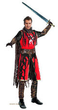 MENS MEDIEVAL MERCENARY COSTUME GHOST KNIGHT FANCY DRESS HALLOWEEN OUTFIT NEW