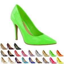 Womens Ladies Mid High Heel Wedding Bridal Party Stiletto Court Purple UK Size 5