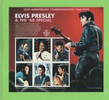 Elvis Presley Ghana Sheet Famous People Postal Stamps