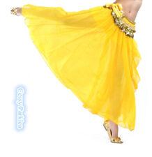 CB2 Adult Bollywood Belly Danceing Coins Belt Hip Velvet Scarfs Chiffon Skirts