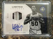 David Robinson 2016-17 Panini Limited Legends 3 Color Patch Auto 05/10 Spurs