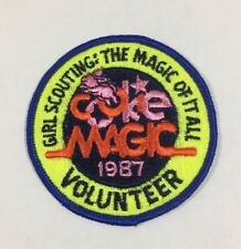 """Vtg Girl Scout Patch Badge - 1987 Cookie Magic Volunteer - 3"""""""