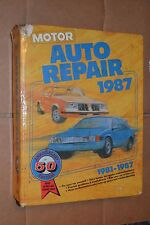 Motor Auto Repair Manual 50th Edition 1981 1982 1983 1984 1985 1986 1987