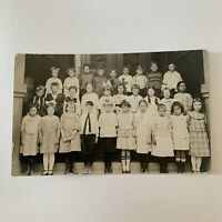 Antique Real Photograph Postcard RPPC School Group Photo Children Boys & Girls