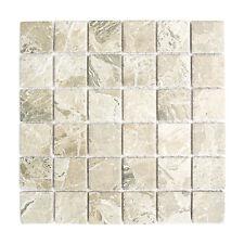 KEM Mosaik Mosaikmatte Quadrat Steinoptik sandbraun Steingröße 48 x 48 mm