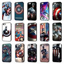 Capitán América Los Vengadores Marvel Superhéroe teléfono funda para iPhone 5 6 7 8 X