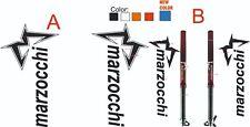 Kit 3 adesivi stickers foderi forcella MARZOCCHI  17 Cm model A-B