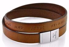 Lederarmband für Männer, Verschluss Gravur, Armband mit Wunschtext, Geschenk
