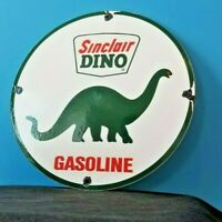 VINTAGE SINCLAIR GASOLINE PORCELAIN GAS DINO SERVICE STATION PUMP PLATE SIGN