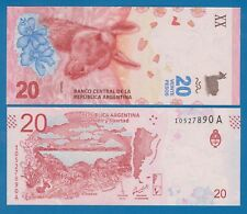 """Argentina 20 Pesos P New 2017 UNC Serie """"A"""" Low Shipping! Combine FREE!"""