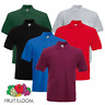 Fruit Of The Loom MEN'S POLO SHIRT PREMIUM HEAVYWEIGHT SMART GOLF CASUAL S-3XL