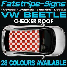 VW BEETLE CHECKER ROOF GRAPHICS STICKERS STRIPES DECALS VOLKSWAGEN 1.6 1.8 TURBO