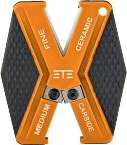 ETE Super V Ceramic/Carbide Orange/Black Knife Sharpener Fine/Medium ETES5020