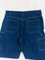 Orvis Women's size 16 Denim Cropped Carpenter style Capri Medium Blue Jeans