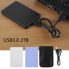 "2.5"" USB 3.0 2TB SSD HD Hard Drive Disk SATA External Enclosure Cover Case Box"