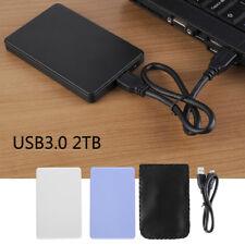 "2.5"" USB 3.0 2TB SSD HD Hard Drive Disk SATA External Enclosure Cover Case Box"