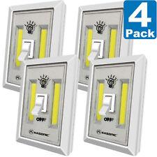 4 X PACK LED Night Light, Kasonic 200 Lumen Cordless COB LED Wall  Light Switch