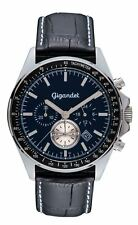 NEU! Gigandet VOLANTE Herrenuhr Chronograph Edelstahl Blau Lederband G3-008