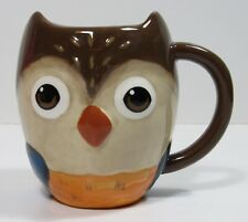Earthenware Ceramic Owl Mug Cup Brown Coffee Tea