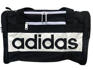 adidas Court Lite Duffel Bag, Black/White, Small School Travel Sports Bag 0256