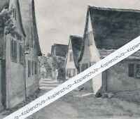 Dossenheim - Amt Heidelberg - Ortsansicht - um 1920 -Selten -     -- Q 26-3