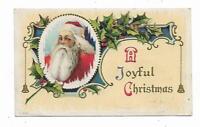 1911 Christmas Postcard Santa Claus A Joyful Christmas