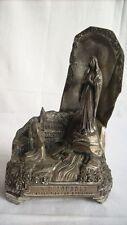 altes Souvenir Lourdes Erscheinung Metall Spieluhr selten Andenken groß