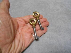 1960s pair French Antique brass & steel KEYs