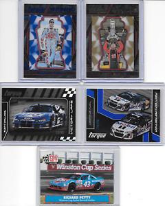 LOT OF 5 Nascar Racing Cards-4 Inserts Busch/Petty/Wallace/Stewart/Biffle