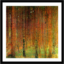 Pine Forest II by Gustav Klimt 59cm x 59cm Framed Black
