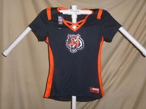 Cincinnati Bengals NFL Fan Fashion JERSEY/Shirt MAJESTIC Womens Medium NWT $55