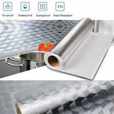 Self Adhesive Oil-proof Aluminum Foil Removable Wall Sticker For Kitchen Cabinet