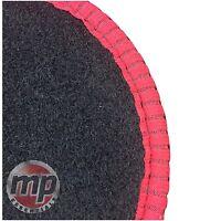 Black Carpet Car Floor Mats Set Tailored to fit Fiat 500 X (2015+) + Choose Trim