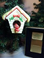 1979 Hallmark Ready for Christmas Ornament Red Bird Birdhouse Tree Trimmer