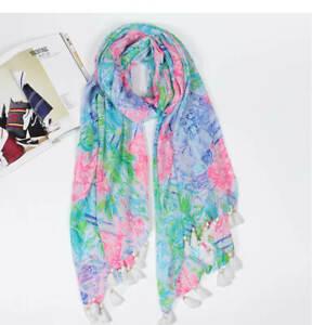 Free Ship Bohemian Queen Lilly Pulitzer Resort Scarf Wrap