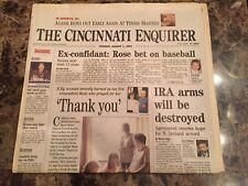 Pete Rose (Newspaper) - Rose Bet on Baseball - 8/7/01 - Cincinnati Enquirer