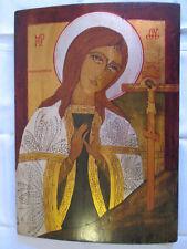 Feingearbeitete , handgemalte IKONE - Mutter Gottes - aus byzantinischen Raum