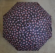 COACH Floral Printed Retractable Umbrella F65331, SV/Black Multi