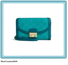 NWT Vera Bradley Ultimate Wristlet Wallet Handbag Leather Teal MSRP $118 #171713